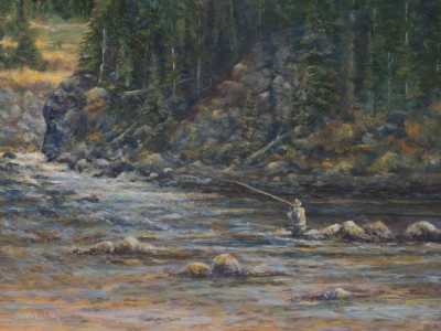 Fly Fishing the Gallatin 22 x 16
